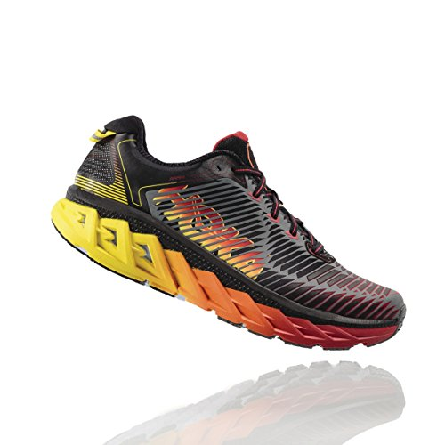 HOKA ONE ONE M arahi Chaussures, homme, Medieval Blue/Red Orange, 38.67 Noir (formula one)