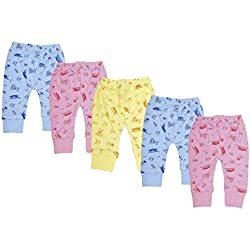 Kuchipoo Baby Pyjamas Leggings Bottoms - Pack Of 5 -12-18 Months
