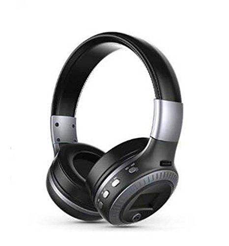 Yjrong Drahtlos Faltbares Über-Ohr-Hi-Fi-Stereo-Headset mit CVC 6.0 Geräusch-Abbruch Mikrofon, Kabelgebundene und Drahtlose Kopfhörer, Zum Training, Laufen, Joggen, Fitness,Blackgray