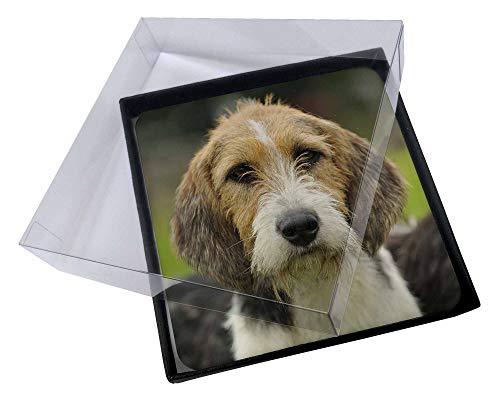 Advanta - Coaster Set 4X Welsh Fox -Terrier-Hund Bild Setzer gesetzt -