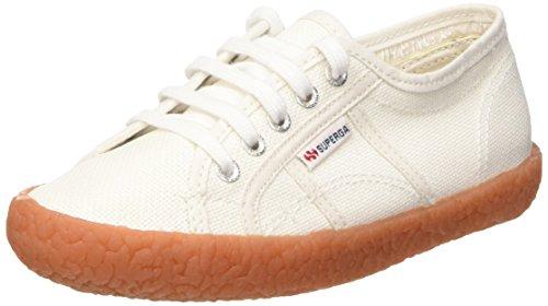 Superga Unisex-Kinder 2750 Naked Cotj Sneaker Weiß