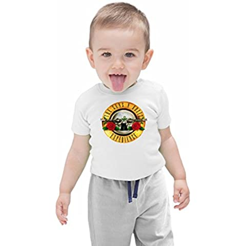 Guns N Roses Experience Bebé camiseta ecológica Stylish Organic Baby T-shirt Fashion Fit Kids Printed Clothes by Genuine Fan