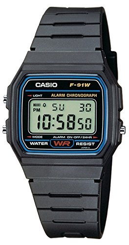 Casio Collection Unisex-Armbanduhr F-91W-1YER (Digitale Alarm Uhr Kinder)