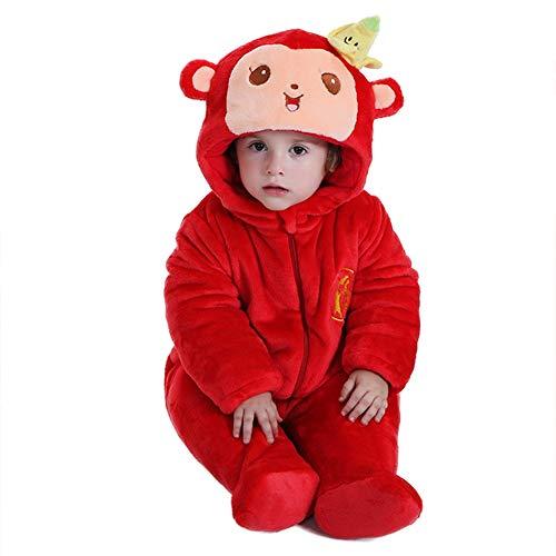 Kostüm Affe Plus - LSERVER Baby Jungen (0-24 Monate) Spieler Rot/Affe 32-36M (Height 98-94cm)
