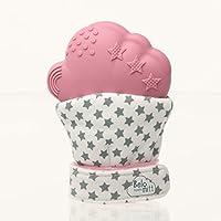 Belo + Me Teething Mitt for Babies | Lightweight, Washable & 100% Safe Teething Glove | 3-12 Months | Pink Mitten
