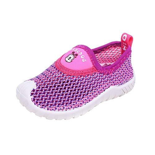 Dorical Unisex Babyschuhe Kinder Mesh Schuhe Kleinkind Schuhe,Jungen Mädchen Sommer Atmungsaktiv Lauflernschuhe Sportschuhe Freizeitschuhe Sneaker Krabbelschuhe mit Weiche Sohle(Lila,26 EU)