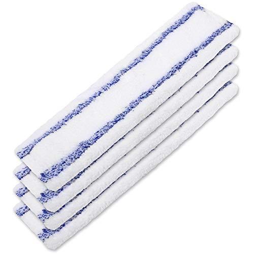 KEEPOW 4 Stück Ersatztücher Mikrofaser für Kärcher Fensterreiniger Tuch Akku Fenstersauger Sprühflasche WV 2 Premium (Plus), WV 5 Premium (Plus) Indoor, 2.633-130.0