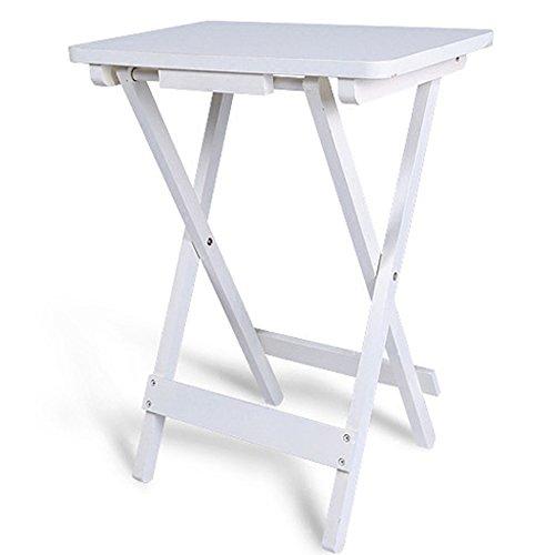 Einstellbar Klapptisch Weißer Couchtisch Klappbarer Beistelltisch  Kinderschreibtisch Kleiner Quadratischer Tisch 610 * 450 * 300mm.