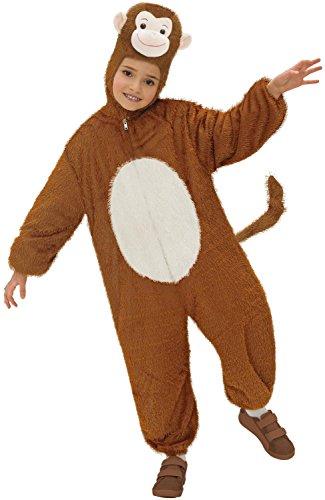 erkostüm Affe, Overall mit Maske, Größe 134 (Mädchen Affe Halloween Kostüme)