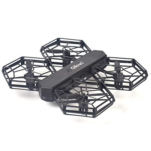 Drone radiocomandato con hd wifi 0,3 mp fotocamera live video rc quadcopter altitude hold app control headless mode one key return mini quadcopter drone, nero, 17,2 * 16,7 * 3,3 cm