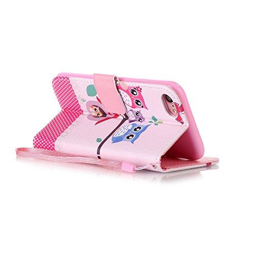HX439 Apple【Eine Vielzahl von Mustern】iPhone 7 Handyhülle Case für iPhone 7 Hülle im Bookstyle, PU Leder Flip Wallet Case Cover Schutzhülle für Apple iPhone 7(4.7 Zoll) Schale Handyhülle Cover im Book Farbe-6