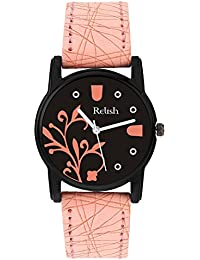 Relish Analog Black Dial Watches for Girls & Women RE-L091PB