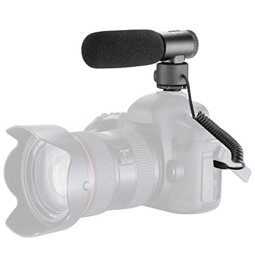 Neewer Auf-Kamera Vollmetall Schrotflinte Mikrofon, Niere Richtungsinterview Video Mikrofon für Canon Nikon Sony DSLR Kameras, Camcorder mit 3,5 mm Audio Verbindung (NW-D20)