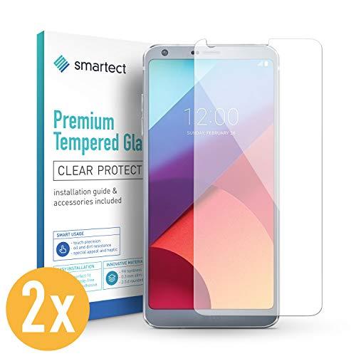 smartect Panzerglas für LG G6 [2 Stück] - Bildschirmschutz mit 9H Härte - Blasenfreie Schutzfolie - Anti Fingerprint Panzerglasfolie
