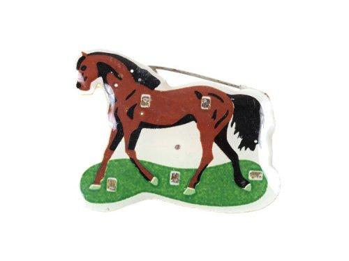 Blinki LED Anstecker Blinky Brosche LED Pin Button viele Motive, wählen:Pferd 11