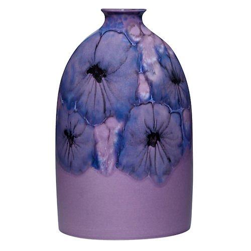 Poole Pottery Jasmine Medium Oval Bottle 23cm