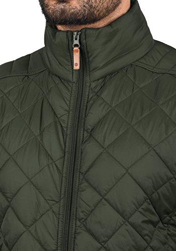 BLEND Stanley Herren Übergangsjacke Stepp-Jacke mit Stehkragen aus hochwertiger Materialqualität Peat Green (77200)