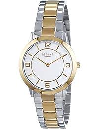 Regent Damen-Armbanduhr XS Analog Quarz Edelstahl beschichtet 12230619