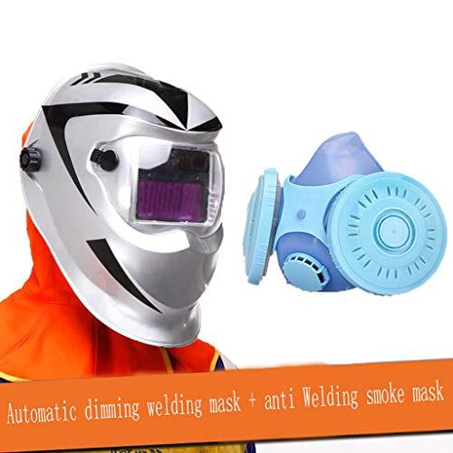 Preisvergleich Produktbild LXLX Automatische Dimming Schweißmaske Kopf-montiert vollautomatische Schweißer Cap Argon Arc Schweißen Schweißen Gläser Anti-UV (Farbe : 9)