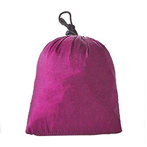 BXT Hängematte aus Fallschirmseide für eine Person bis 100kg (230*90 cm,Grün+Lila) - 6
