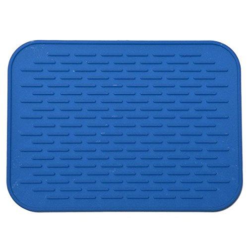 Bluelover antiscivolo in silicone pad isolamento ad alta temperatura tovaglietta blu stoviglie