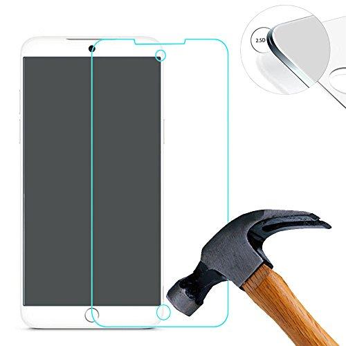 Lusee 2 X Pack Panzerglasfolie Tempered Glass Hartglas Schutzfolie für Meizu 15 Plus 5.95 Zoll Folie Protector Bildschirmschutz 0,3mm 9H 2.5D (Nur den flachen Teil abdecken)