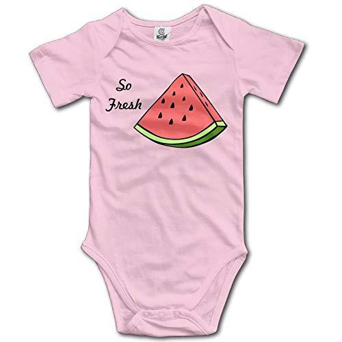 TKMSH Fresh Watermelon Boy's & Girl's Short Sleeve Jumpsuit Outfits ()