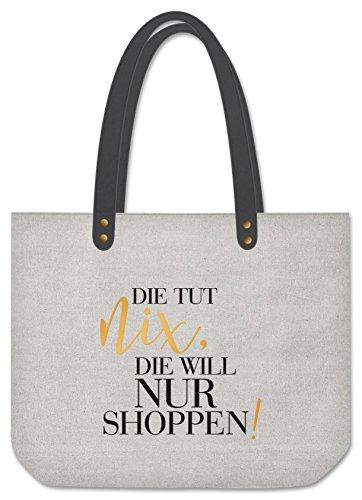 Grafik Werkstatt Shopper Die Tut Nix Sporttasche, 48 cm, Grau