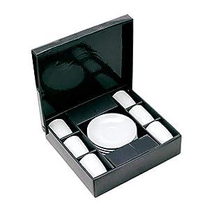 Espresso Tassenset Porzellan mit 6 Tassen und 6 x Unterteller