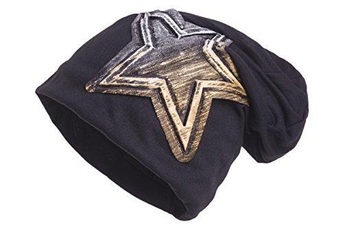 Shenky - Bonnet - styles/motifs rétro variés et insolites noir/doré/étoile