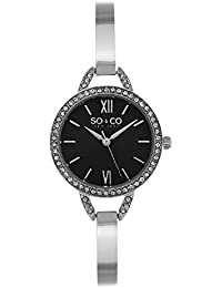 So & Co 5088.1 New York SoHo Women's Quartz Watch with Black Dial Analogue Display and Silver Stainless Steel Bracelet