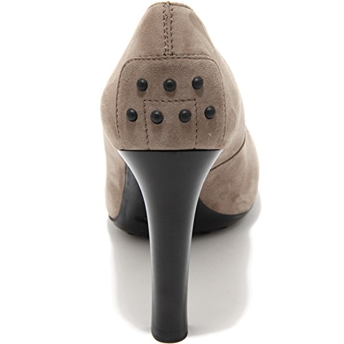 80249 decollete TOD'S GOMMA T95 scarpa donna shoes women Grigio