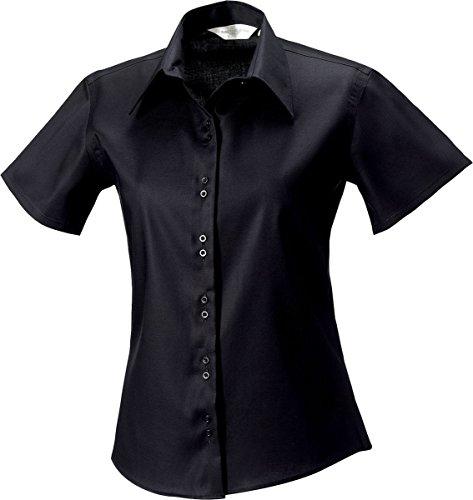 Russell Collection Kurzarm Damen, Eisen, nicht formalen oben, von Büro Blau Bright Sky X-Small (Kurzarm-formalen Shirts)
