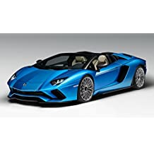 Athah Designs Lamborghini Aventador S Roadster Blue Car Wall Poste (13 X 13-inches, Matte)
