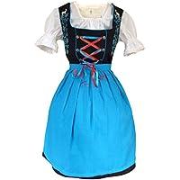 Vdi08 Dirndl, molti modelli di varie dimensioni (36 - 56), e colori, 3 pezzo dal set di costume con la camicetta e grembiule