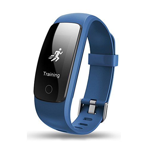 Teamyo ID107 Plus GPS Fitness Tracker Activity Tracker Impermeabile con Frequenza Cardiaca Multi-sport Mode Auto-timer Meteo Smart Wristband for IOS / Andriod Huawei P9 Lite P8 Lite 2017 Samsung LG iPhone 7 7Plus iPhone 6 6 Plus (Blu)