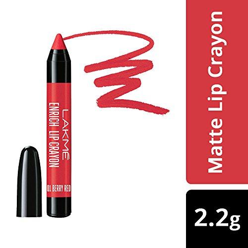 Lakme Enrich Lip Crayon, Berry Red, 2.2 g