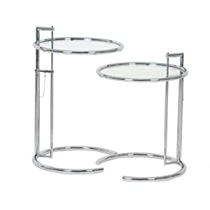 Classicon Eileen Gray E 1027 Adjustable 2 X Beistelltische Classic Le  Corbusier Setpreis: Amazon.co.uk: Kitchen U0026 Home
