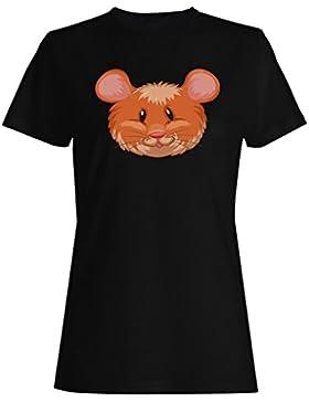 Nuevo Ratón Cabeza Animal Divertido camiseta de las mujeres h444f