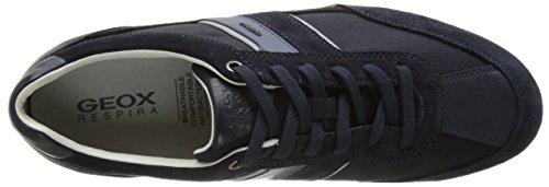 Geox U Wells C, Sneakers Basses Homme Bleu (Navyc4064)