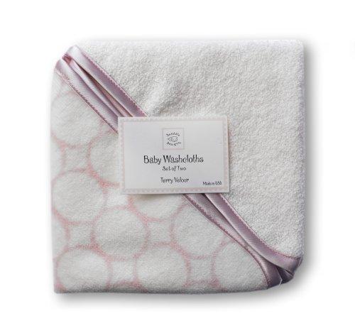 swaddledesigns-toallitas-de-velour-organico-bebe-circulos-con-acabado-satinado-rosa-pastel-set-de-2