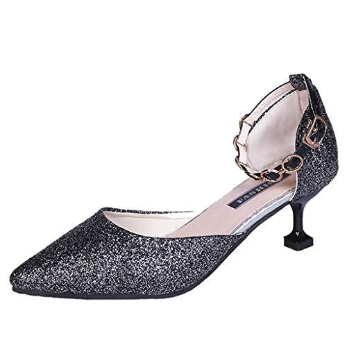Square Dance Schuhe Frauen Damen Pailletten Spitz Kleid High Heels Tanzschuhe ÜBe Latein Tanzschuhe Ballsaal Salsa Plattform Charakterschuhe Sandaletten Chromledersohle -