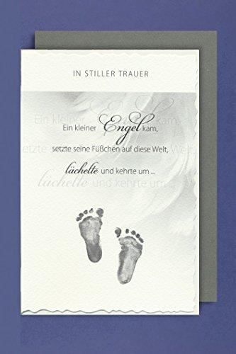 Trauer Kind Karte mit Umschlag Ein kleiner Engel 11x16cm