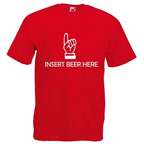 Fruit of the Loom Herren T-Shirt Rot