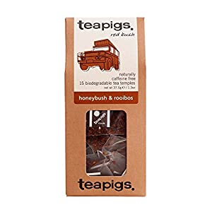Teapigs Organic Honey Bush and Rooibos Tea 15 Teabags (Pack of 2, Total 30 Teabags)