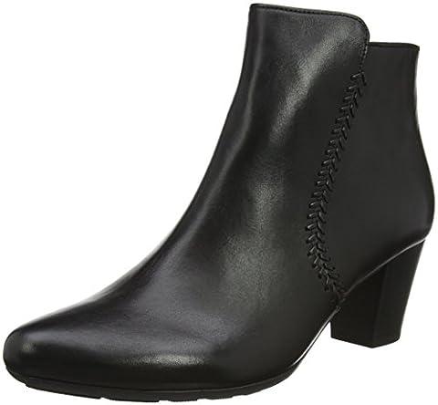 Gabor Shoes Comfort Basic, Bottes Femme, Noir (584 Schwarz Micro) 39 EU