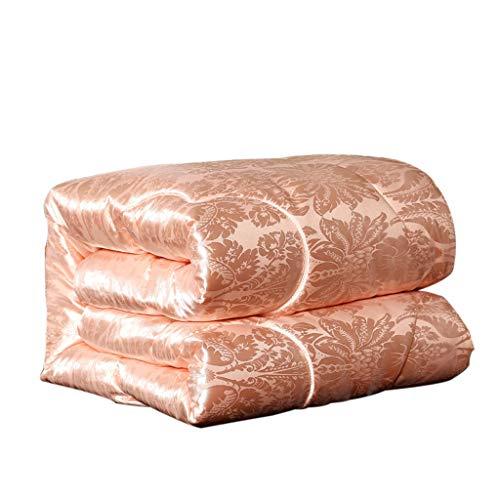 QUILT Hochwertige Solide Steppdecke, Mittleres Gewicht Für Alle Jahreszeiten, Flauschige Wärme, Weiches, Aktives Drucken, Gesund Und Ungiftig MENA Uk (Farbe : Orange, größe : 200x230cm(3KG))
