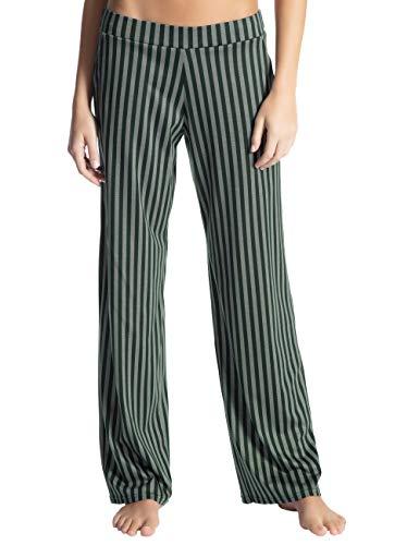Calida Damen Favourites Trend 3 Schlafanzughose, Grün (Scarab Green 649), Medium (Herstellergröße: M)