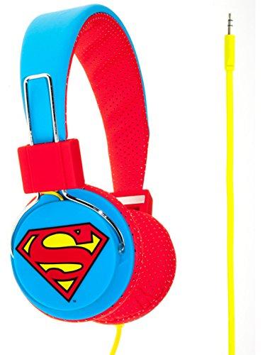 Superman Man of Steel DC0292 Casque Audio Supra-Auriculaires - Bleu/Rouge