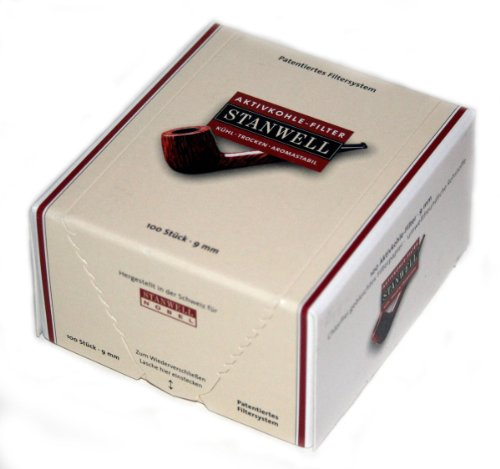 9 mm Filtre Active Charcoal Pipe STANWELL – Box Of 100 filters